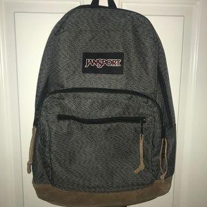 JanSport Suede Leather Bottom Backpack